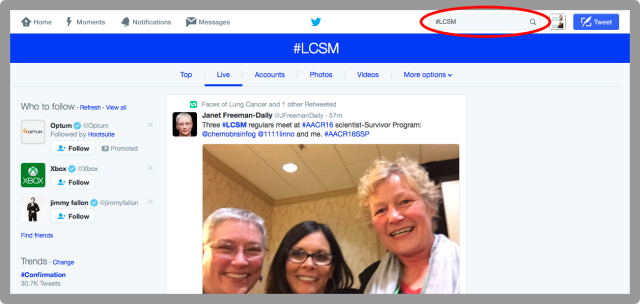 How To Search for LCSM on Twitter