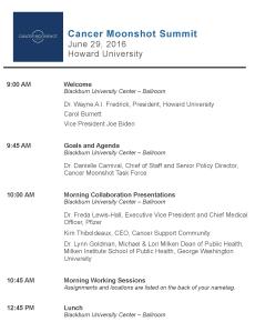 Cancer Moonshot Summit Agenda 1 (CROPPED)