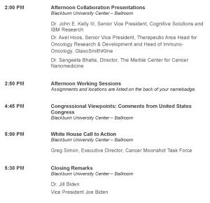 Cancer Moonshot Summit Agenda 2 (CROPPED)